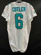6 Jay Cutler Miami Dolphins Game Used White Nike Jersey Size 44 Year 2017