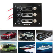 3 Gang Fused Marine Switch Panel For Boats Caravans Rv 12 Volt Switch Panel