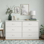 Mainstays Classic 6 Drawer Dresser Color White Finish Dw01598.