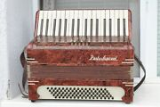 Vintage Old Italian Button Accordion Paolo Soprani 80bass Musical Instrument