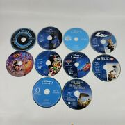 Lot Of 10 Disney Pixar Animated Movie Blu Ray Discs Only Toy Story Up Coco Tron