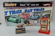 Vintage Hot Wheels Sizzlers Fat Trackgiant O Racetrack Set W/car, Box And Inst