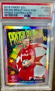 Erling Haaland 2019 Finest Ucl Rc Prized Footballers Refractor Sp Psa 9 Mint