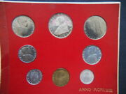 1958 Vatican Italy Rare Official Set Coins 8 Unc Gem Pius Xii Great Quality