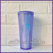2021 Starbucks Taiwan Blue Ray Purple Aurora Iridescent Studded Bling Cold Cup