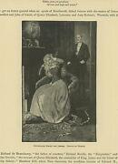 Antique Victorian Woman Gwendolen Drops The Jewels Jewelry Box Candles Old Print