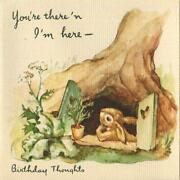 Vintage Bunny Rabbit Tree House Carrot Erica Von Kager Brownie Greeting Card