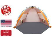 Easy Setup Beach Tent Large Beach Cabana Sun Shelter With Upf 50+ Protection Us