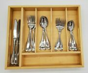19 Pc Oneida Wm A Rogers Deluxe Stainless Gloria Montclair Satin 3 Place Sets +
