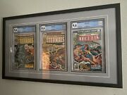 Eternals 1 2 And 3 Cgc 9.6 White Pages Framed Origin 1st Appearance