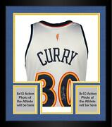 Frmd Stephen Curry Warriors Signed White Authentic 2009-2010 Throwback Jersey