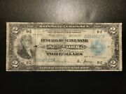 1918 2 Two Dollar Federal Reserve Bank Note Large Size Fr.751 Fine