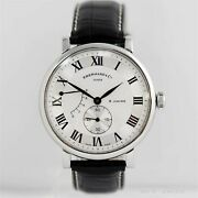 Eberhard 8 Days Grande Taille 21027.2 Hand Winding White Dial Small Second Men's
