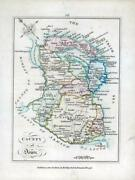 1776 Ireland - Rare Engraved Antique Map Of Down By Bernard Scale Bs2/11