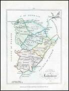 1776 Ireland - Rare Engraved Antique Map Of Londonderry Bernard Scale Bs2/10