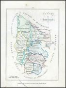 1776 Ireland - Rare Engraved Antique Map Of Fermanagh By Bernard Scale Bs2/7