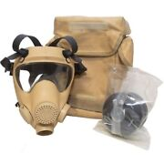 Nato Military Mp5 Gas Mask With Filter And Carry Bag Desert