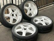 """4x Genuine Simmons Commodore 20"""" Fr-1 Vf Ve Staggered Wheels Kumho Tyres..."""