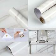 Homease Marble Contact Paper White Peel And Stick Wallpaper For Kitchen Countert