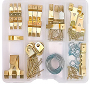 Optnooks Assorted Picture Hangers   120 Pieces Set Includes Heavy Duty Wall And