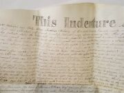 1830 Antique Vellum Land Deed Warwick Lancaster Peacock Pa Pshudy To Abe Gross