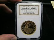 One Troy Ounce .999 Solid Gold 100 Union George Morgan Design Pattern Ngc Proof