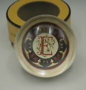 Punch Studio Made In France Monogram Initial E Paperweight Mib