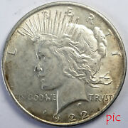 1922 Peace Silver Dollar Coin Unsorted Ungraded Estate Collection Very Nice