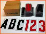 Changeable Outdoor Sign Letters 6andrdquo Portable Flex 279 Ct Helvetica Font 7andrdquo Panel
