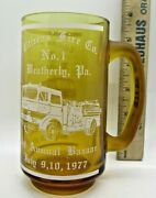 Weatherly Pa Citizen's Fire Co 1977 Fire Dept Beer Stein
