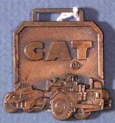 Vintage Caterpillar Machinery Co Peoria Il Metal Watch Fob Sf1a-2-28