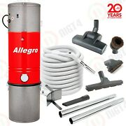 Super Allegro Central Vacuum System 3000 Sq Ft Home Hardwood Deluxe Air Package
