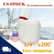 3/4and039and039in Andtimes 200ft Twisted Three Strand Rope Hammock Tree Rigging Lines Boat Rope