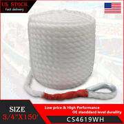 3/4and039and039in Andtimes 150ft Twisted Three Strand Rope Hammock Tree Rigging Lines Boat Rope