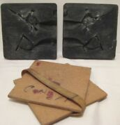 Old Rubber Soldier Mold For Lead Military Toy Army Man W/ Bayonet