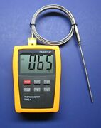 High Temperature K-type Thermocouple Thermometer With 5 Pointed Stainless St...