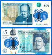 United Kingdom 5 Pounds 2016 Serie Ad Uk Great Britain Sign Cleland Free Shiping