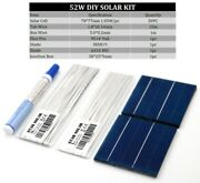 50pc Solar Panel Kit Solar Cells Polycrystalline Photovoltaic Cells Tabbing Wire