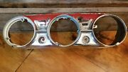 Oem 1930and039s 1940and039s 50and039s Ford Gauge Dash Bezel Chrome Rat Rod Cluster