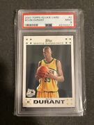 2007 Topps Rookie Card 2 Kevin Durant Rc Psa 9
