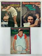 1970's Sports Illustrated Vintage Magazine Jimmy Connors Tennis - Lot Of 3