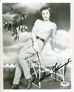 Barbara Stanwyck Psa Dna Cert Signed 8x10 Photo Autograph