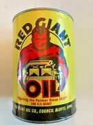 Red Giant Oil Full Unopened Quart Can Vintage Paper Cardboard Can Super Rare