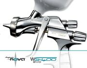 Spray Gun Anest Iwata Ws400 Clear Pininfarina 1.3 Mm For Painting With Suitcase