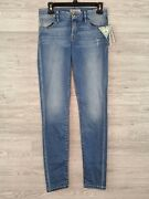 Guess Womenand039s Sophia Light Wash Low-rise Curvy Power Skinny Jeans Size 26 New
