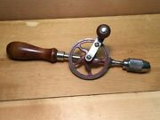 Vtg Millers Falls Egg Beater Hand Drill Woodworking Tool No. 94 Excellent Cond
