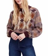 Free People Womens Diamond Dayand039s Pullover Sweater Brown X-small