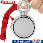 500/700lbs Double Sided Strong Neodymium Fishing Magnet Pulling Force Or Rope