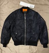 Calvin Klein 205w39nyc Satin Bomber Jacket With Shearling Lining Size 50 3000