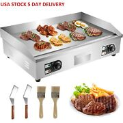 4400 W Commercial Electric Countertop Griddle Flat Top Grill Hot Plate Bbq